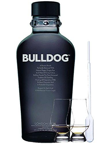 Bulldog London Gin 0,7 Liter + 2 Glencairn Gläser + Einwegpipette
