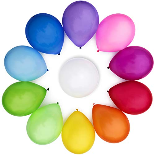 WinkyBoom Balloons Assorted Color 12 Inches 110 Count...