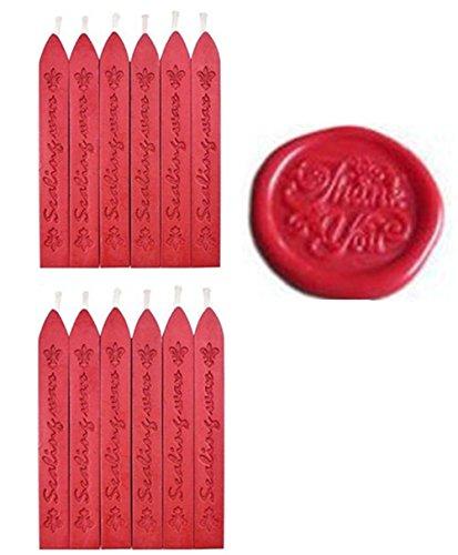 MNYR Nieuwe 3 stks Claret-Rode Wijn Wax Sticks met Vlekken voor Decoratieve Bruiloft Uitnodigingen Wax Seal Sealing Stamp Gift Kaarten Sealing Wax 12pcs Rood