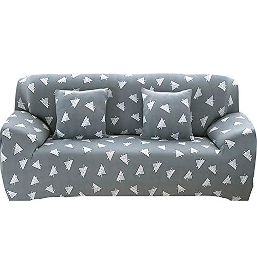 ASCV Elastische Sofabezug-Set für Wohnzimmer Sofa Handtuch rutschfeste Sofabezüge für Sofa Schonbezug 1/2/3/4 Sitzer A7 3-Sitzer
