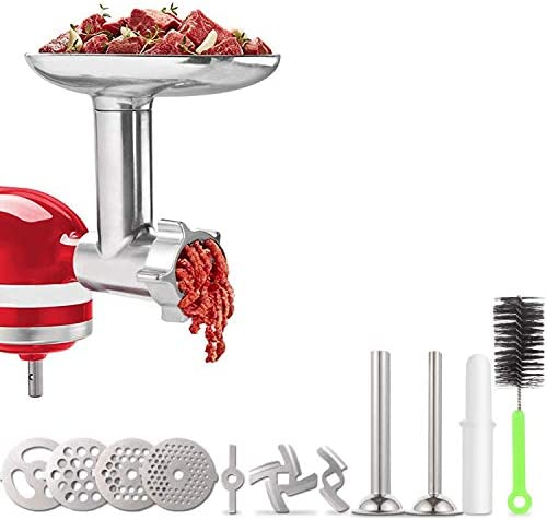 Meat Grinder Attachment for KitchenAid Stand Mixers Accessories Included 2 Sausage Stuffer Tubes product image