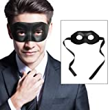 CUSFULL Máscara Negra Venecianas Hombres Mujeres para Fiesta de Disfraces Halloween Bola de Mascarada Clásica Navidad Mascaras PU Artesanal para Adultos