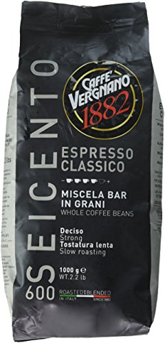 Vergnano Classico 600, Espresso ganze Bohne, dunkle Röstung, 1000 g