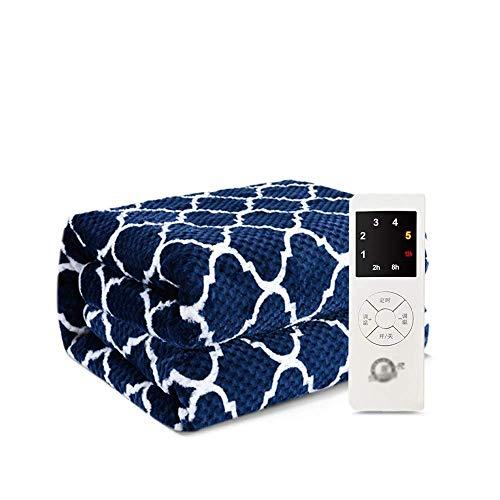 Blue Soft Comfort Babe Underblanket Manta eléctrica Calentamiento Throw Downshift Control de Temperatura de sincronización Inteligente Protección contra sobrecalentamiento y función de apaga