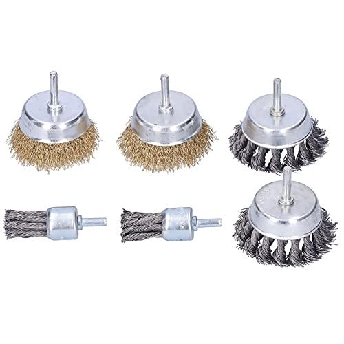 Cepillo de alambre de acero trenzado, herramienta de eliminación de óxido Cepillo de alambre trenzado con hogar para pulir Cepillo de pulido para amoladora eléctrica