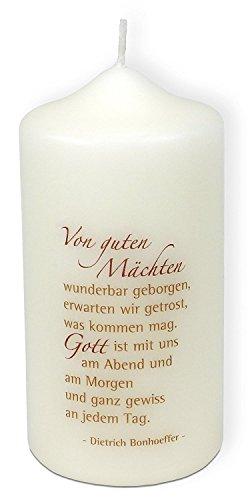 Christliche Geschenkideen °* Kerze Dietrich Bonhoeffer Von Guten Mächten.
