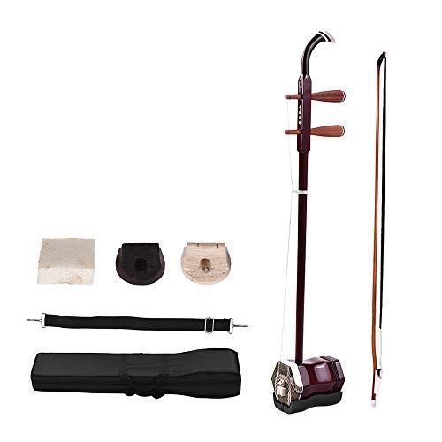 ammoon Madera Maciza Erhu Chino de 2 Cuerdas Violín Violín Encadenado Instrumento Musical
