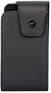 Premium Black Leather Case Cover Pouch Holster Swivel Belt Clip for US Cellular ZTE Imperial 2 - Verizon iPhone X - Verizon Blackberry Z30 - Verizon Google Pixel - Verizon HTC Desire 526
