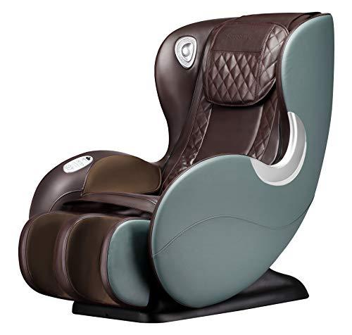 BOSSCARE Small Massage Chairs SL Track Full Body Massage Recliner, Shiatsu Recliner, Space-Saving...