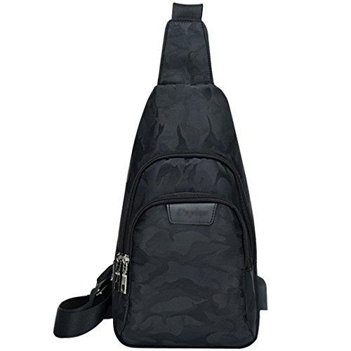 Men Women Travel Hiking Chest Daypack Water Resistant Sling Backpack Crossbody Bag