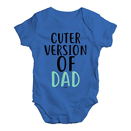 Twisted Envy Funny Infant Baby Bodysuit Onesie Cuter Version Of Dad Royal Blue 0-3 Months