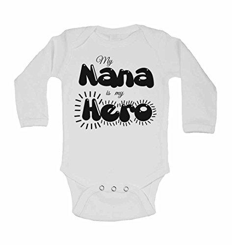 My Nana est My Hero – personnalisé bébé à manches longues gilets bodies bébé SE Développe pour garçons, filles – Blanc – 2–3 ans