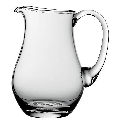 WMF Polo Glaskrug 1,5l, Wasserkrug aus Glas, Krug mit Henkel, spülmaschinengeeignet