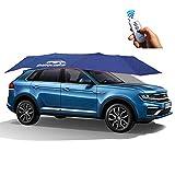 460 X 230 Cm Ombrello Automatico Automatico Universale, Tenda da Auto Copriauto da Auto, Carport Piegato Carport, Blu, Anti-UV, Anti-UV, Proof Wind, Snow, Storm