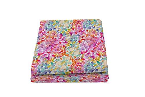 Italian Bed Linen Fantasy Spring Telo Copritutto Stampato 2 Posti, Microfibra, Multicolore, 270 x 280 cm