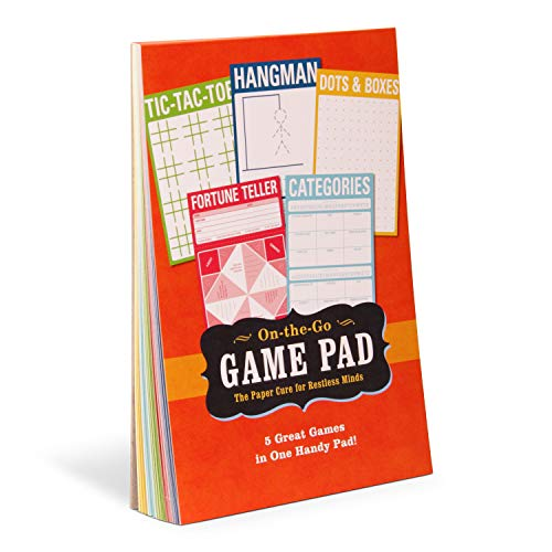 Knock Knock On-The-Go Game Pad 1, Travel Activity Pad for Kids, 6 x 9-inches
