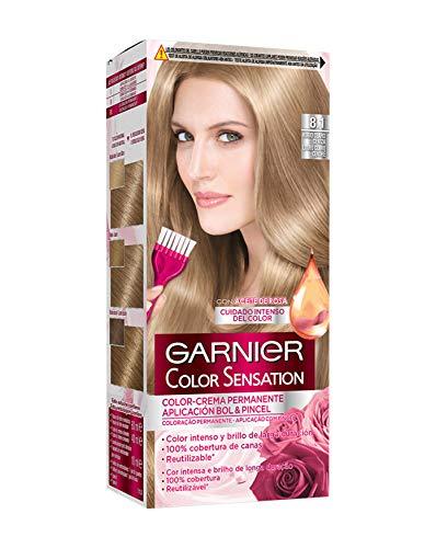 Garnier Color Sensation Coloración permanente, Tono: nº8.1 - [paquete de 3]