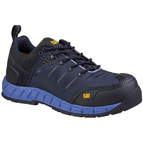 Caterpillar Byway Chaussures de sécurité à lacets pour homme, bleu nuit, 43 EU