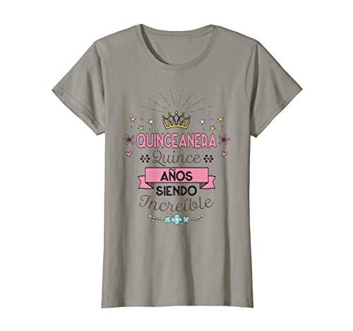 Mujer Regalo de Quinceañera Cumpleaños 15 Años Camiseta