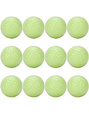 FECAMOS Pelotas de Golf, 12Cs Luminous Night Golf Balls Absorben automáticamente Las Pelotas de Golf Fluorescentes Ligeras, para Amantes del Golf, Familia, Socios comerciales