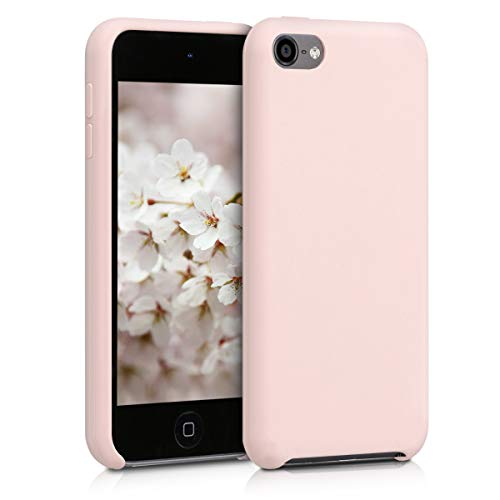 kwmobile TPU Silicone Case Compatible with Apple iPod Touch 6G / 7G (6th and 7th Generation) - Soft Flexible Protective Cover - Dusty Pink