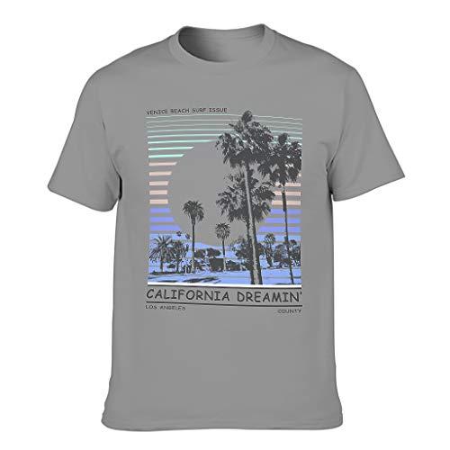 Camiseta de algodón California Dream para hombre de manga corta