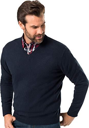 Royal Spencer Herren-Pullover mit V-Ausschnitt aus Kaschmir-Seide, Kaschmirpullover Dunkelblau, toller Winterpullover, angenehm zu tragen (Gr: M - XXL)