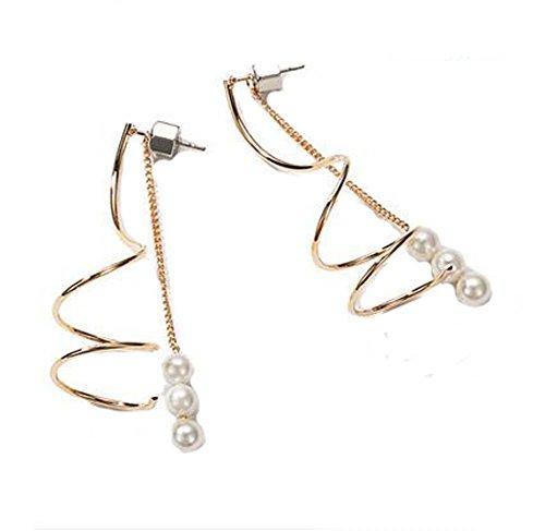 Style Européen Bead Individuality Gold Dangler Vintage Earrings
