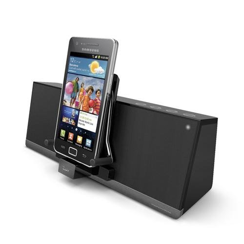 iLuv iMM377BLK MobiAir Bluetooth Stereo Speaker Dock for Smartphones with Micro-USB Charging, Black