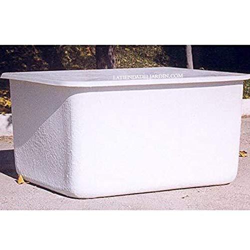 DEPOSITO de agua de POLIESTER fibra de vidrio 1000 LITROS rectangular + Tapadera. Largo 142 cm, Ancho 108,5 cm, Altura 85 cm. Apto para contener productos alimenticios.