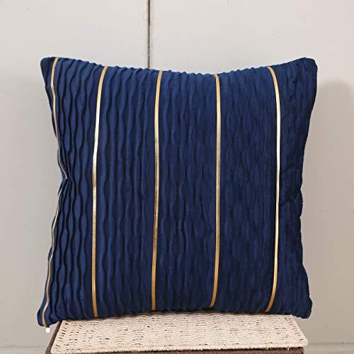 Oukeep Arredamento per La Casa Decorazione in Tessuto Cuscino per Divano Cuscino in Flanella Tinta Unita Fodera per Cuscino Creativo con Barra in Oro Lavato