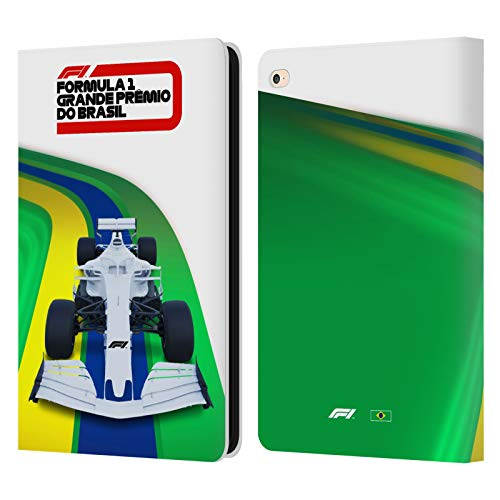 Official Formula 1 F1 Brazil Grand Prix World Championship 2 Leather Book Wallet Case Cover Compatible For Apple iPad Air 2 (2014)