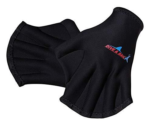 E-Qianw Guantes De Buceo De 2 MM, Guantes De Municiones para El Agua Surfing Natación Paddle Diving Gloves Sin Dedos Guantes De Paleta