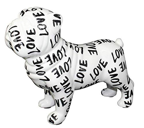 Pomme Pidou - Figura decorativa inglesa de bulldog Big Max   Original, pintada a mano de cerámica   caja de regalo   Hecho a mano con amor