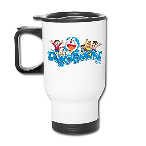 Jldoenh Udjgn Doraemon taza aislada taza de café taza a prueba de fugas taza de coche taza de acero inoxidable unisex oficina viaje hogar