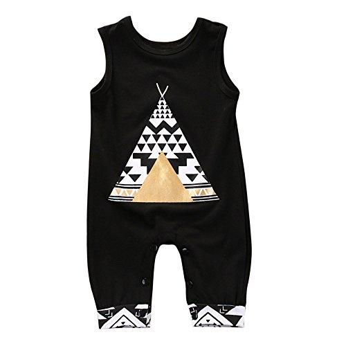 kingko(TM Mode bébé Nouveau-né bébé Print Romper Jumpsuit vêtements Outfits (0-9 Mois)
