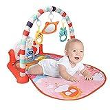PERFECTHA Baby Gyms Tapetes de Juego, Centro de Actividades Musicales, Kick & Play Piano Gym, tapete Acolchado para el Tiempo Boca Abajo, para bebés recién Nacidos (Color) Kind