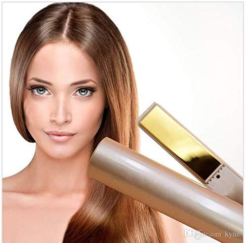 Plancha y rizador de pelo NASDI®, alisador y rizador 2 en 1, plancha de titanio para cabello profesional