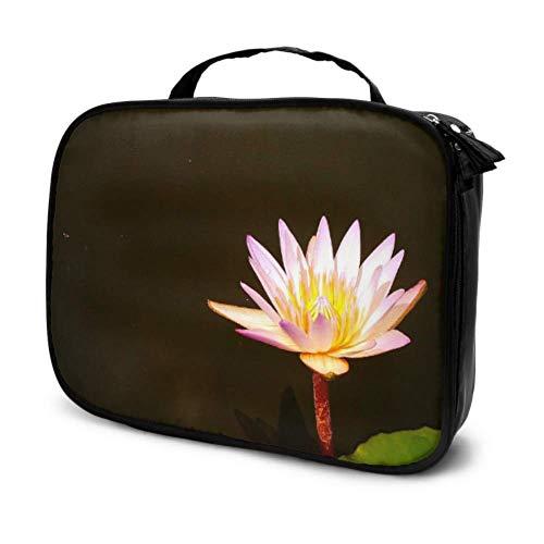 Lotus West Java indonesische Reise Make-up Tasche für Kinder große Kosmetiktaschen Cosmetics Organizer Bag Multifunktions gedruckt Tasche für Frauen