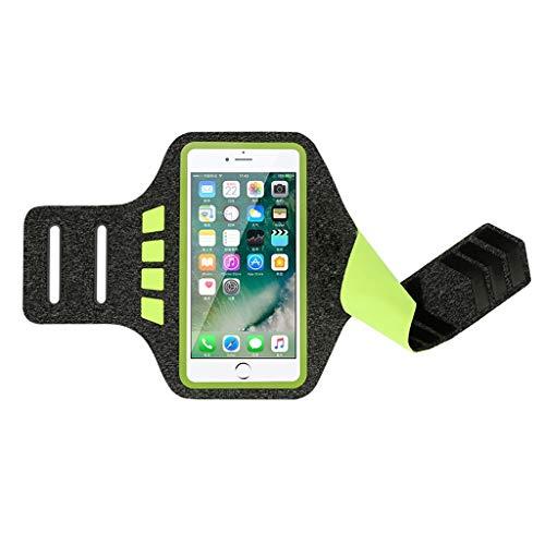 Sportarmband voor joggen, compatibel met iPhone X 8 7 6 6S Plus voor scherm van 25,4 – 15,2 cm, sportarmband voor buiten, zweetbestendig, loopband.