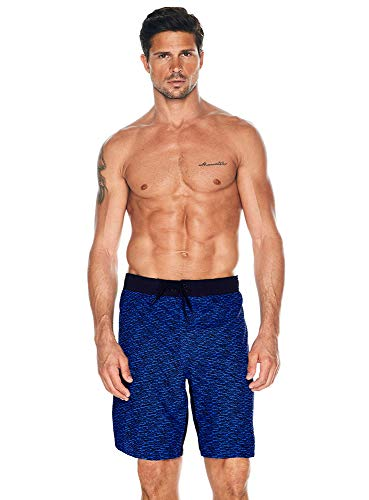 Reebok Herren Bademode 22,9 cm E-Board Rays UPF 50+ Athletic Badeshorts Badeanzug Trunks - Blau - X-Large