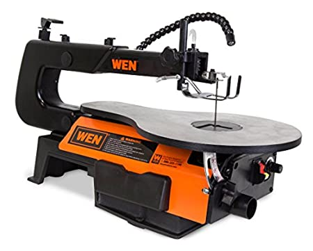 WEN 3920 16-Inch Two-Direction Variable-speed Scroll Saw with Flexible LED Light