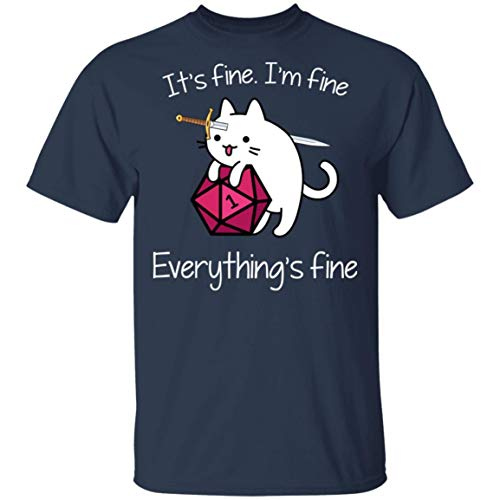 Du.ngeon M.eowster It's Fine I'm Fine Everything's Fine Shirts