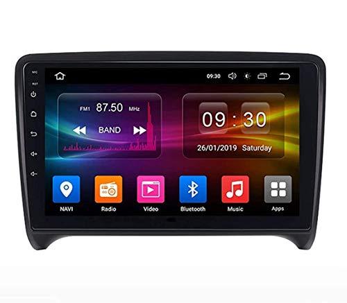 YIJIAREN Radio GPS Navegación para Audi TT 2006-2014, Pantalla táctil 2.5D Android 10.0 Coche Estéreo Sat Nav Soporte de Control del Volante BT Mirror-Link 4G WiFi