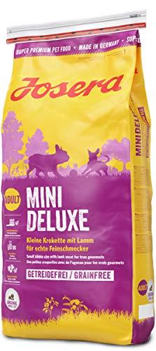 JOSERA MiniDeluxe, getreidefreies Hundefutter für kleine Rassen, mit Lamm und Süßkartoffel, Super Premium Trockenfutter für ausgewachsene Hunde, 1er Pack (1 x 15 kg)