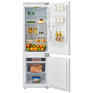 Cookology CBIFF70301 70/30 Integrated Frost Free Combi Fridge Freezer Refrigerator | Metal Back