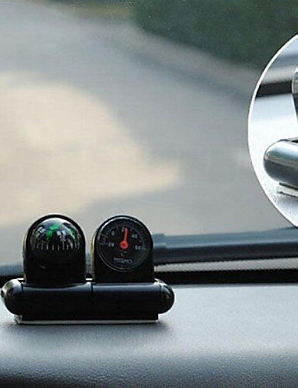 Wwgy Black Mini Vehicle Navigation Compass Thermometer Ball
