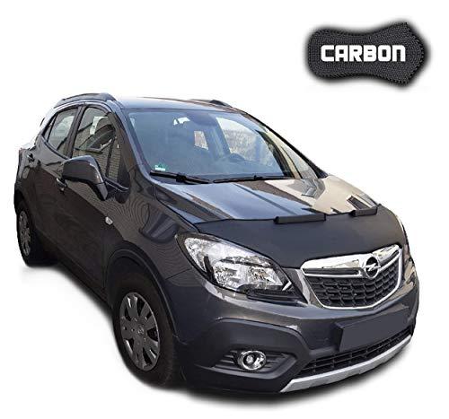 Black Bull Haubenbra für Opel Mokka CARBON Steinschlagschutz Motorhaubenschutz Automaske
