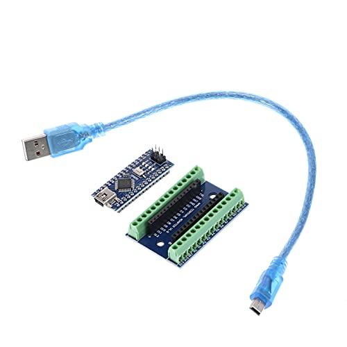 UAlienva Placa de expansión ATMEGA328P V3.0 con cable USB, placa de desarrollo ATMEGA328P V3.0, módulo CH340G para proyectos Arduino Nano