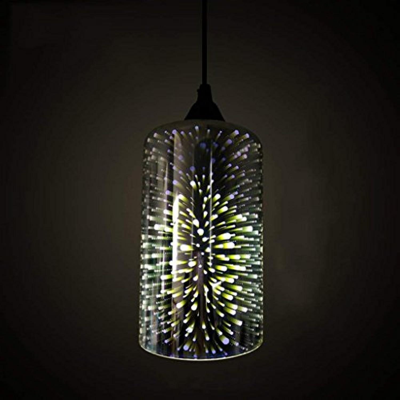 QAZ 3D-Kronleuchter aus Murano-Glas Kunst Leuchten kreative Persnlichkeit Retro Restaurant Wohnzimmer Schlafzimmer Bar Bar Beleuchtungskrper